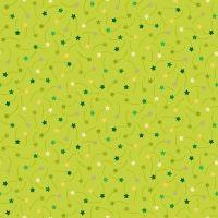 <!--9015-->Makower UK - Festive - Shooting Stars on Green, per fat quarter