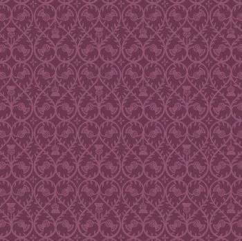 Lewis & Irene - Celtic Coorie - Deep Purple Thistle, per fat quarter