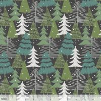 <!--9109-->Blend Fabrics - Baubles & Boughs - Winter Wonderland Grey, per fat quarter