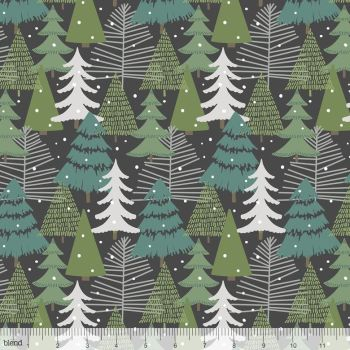Blend Fabrics - Baubles & Boughs - Winter Wonderland Grey, per fat quarter