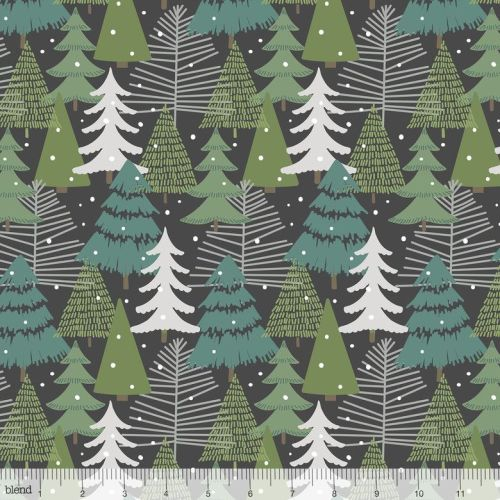 <!--9109-->Blend Fabrics - Baubles & Boughs - Winter Wonderland Grey, per f