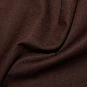 Rose & Hubble True Craft Cotton - Plain in Chocolate - 13, per fat quarter