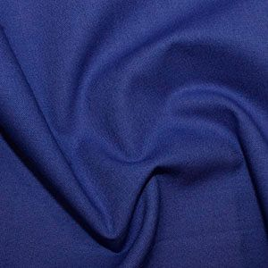 Rose & Hubble True Craft Cotton - Plain in Royal Blue - 51, per fat quarter