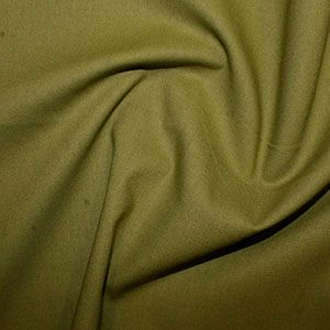 Rose & Hubble True Craft Cotton - Plain in Sage Green- 66, per fat quarter