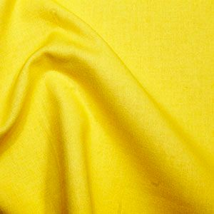 Rose & Hubble True Craft Cotton - Plain in Sunshine Yellow - 15, per fat quarter
