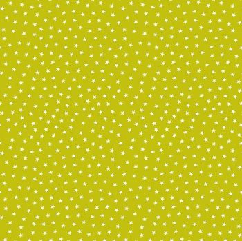 Makower UK - Star Bright - Chartreuse, per fat quarter