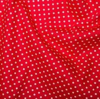 <!--1215a-->Rose & Hubble - 3mm Polka Dot in Bright Red, per fat quarter