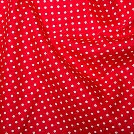 Rose & Hubble - 3mm Polka Dot in Bright Red, per fat quarter