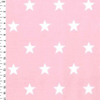 Rose & Hubble - Stars On Pink, per fat quarter