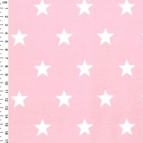 <!--1301b-->Rose & Hubble - Stars On Pink, per fat quarter