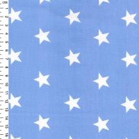 <!--1303-->Rose & Hubble - Stars On Pale Blue, per fat quarter