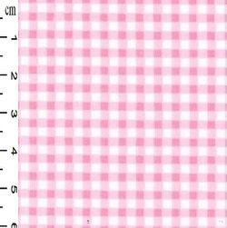 Rose & Hubble - Gingham in Pink , per fat quarter