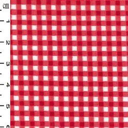 <!--1311-->Rose & Hubble - Gingham in Red, per fat quarter