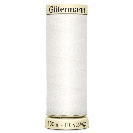 <!--  161 -->Gutermann Sew-all Thread 100m - White 800