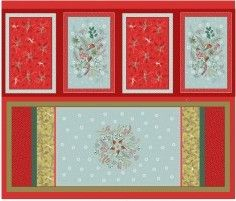 <!--9051-->Lewis & Irene - New Forest Christmas - Table Linen Panel, per pa