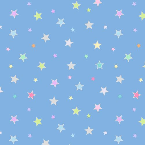 <!--4394-->Lewis & Irene - Rainbows - Pastel Stars (with silver metallic de