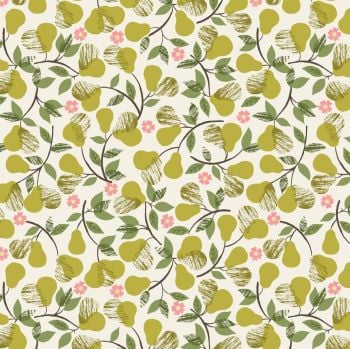Lewis & Irene - Pears on Cream, per fat quarter