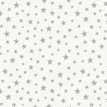 Lewis & Irene - Marvellous Metallics -  Silver Star on Cream (with silver metallic detailing), per fat quarter