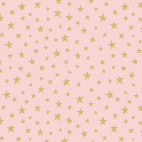 <!--4420-->Lewis & Irene - Marvellous Metallics - Gold star on pink (with g