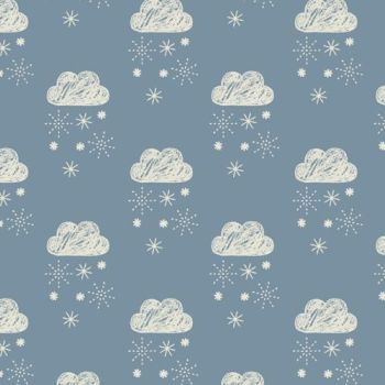 Dashwood Studios - Laska - Clouds on Grey, per fat quarter