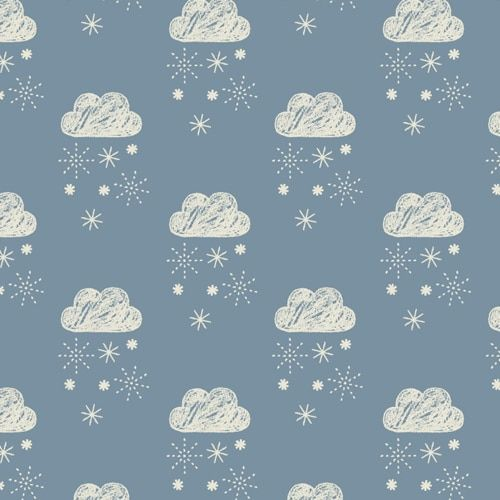 <!--5004-->Dashwood Studios - Laska - Clouds on Grey, per fat quarter