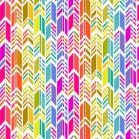 <!--3346-->Makower UK - Art Theory by Alison Glass - Rainbow Feather on White, per fat quarter