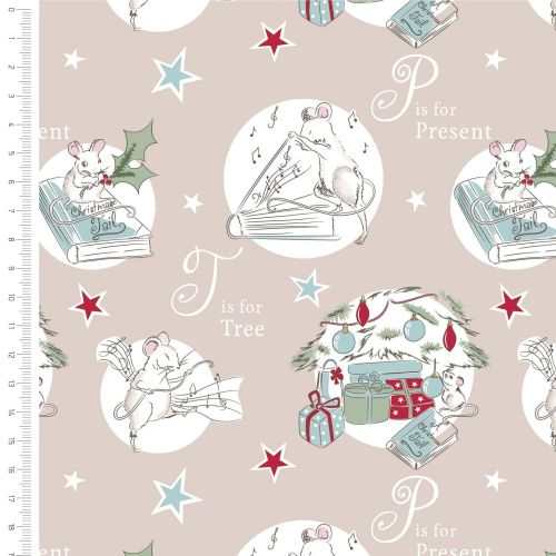 <!--9001-->The Craft Cotton Company - A Christmas Tail on Latte, per fat qu