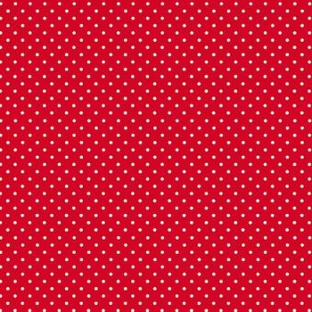 Makower UK - Polka Dot on Bright Red 830/R, per fat quarter
