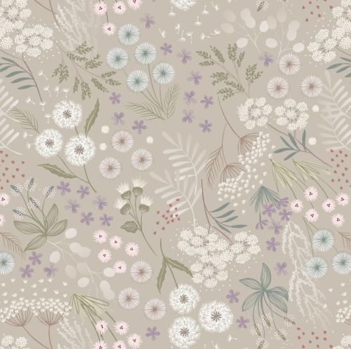 <!--4452-->Lewis & Irene - Fairy Clocks - Cream Linen Fairy Plants, per fat