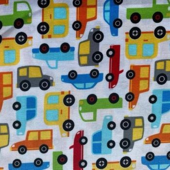 Michael Miller Fabrics - Traffic Jam on Cream, per fat quarter