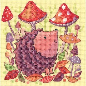 Heritage Crafts Cross Stitch Kit by Karen Carter - Woodland Creatures - Hedghog