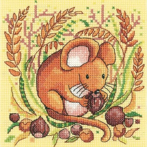 <!--9903 -->Heritage Crafts Cross Stitch Kit by Karen Carter - Woodland Cr