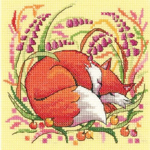 <!--9904 -->Heritage Crafts Cross Stitch Kit by Karen Carter - Woodland Cr