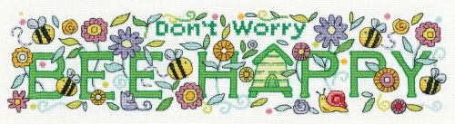 <!--9905 -->Heritage Crafts Cross Stitch Kit by Karen Carter - Bee Happy