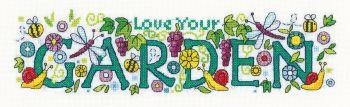 Heritage Crafts Cross Stitch Kit by Karen Carter - Love Your Garden