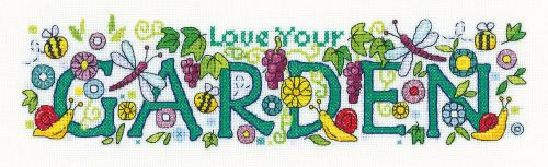 <!--9906 -->Heritage Crafts Cross Stitch Kit by Karen Carter - Love Your G