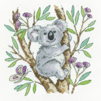 Heritage Crafts Cross Stitch Kit by Karen Carter - Koala