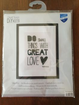 Vervaco Cross Stitch Kit - Do Small Things With Great Love