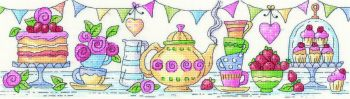 Heritage Crafts Cross Stitch Kit by Karen Carter - Afternoon Tea