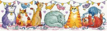 Heritage Crafts Cross Stitch Kit by Karen Carter - The Cat Show