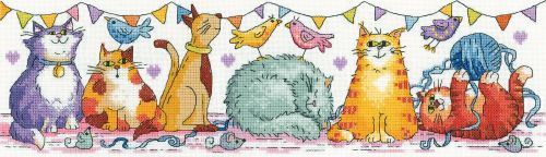 <!--9915 -->Heritage Crafts Cross Stitch Kit by Karen Carter - The Cat Sho
