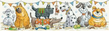 Heritage Crafts Cross Stitch Kit by Karen Carter - The Dog Show