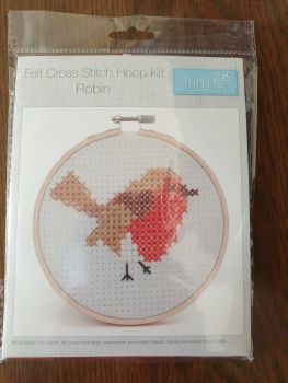Trimits Prepunched Cross Stitch - Robin