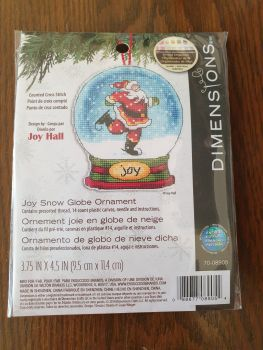 Dimensions Cross Stitch - Joy Snow Globe Ornament