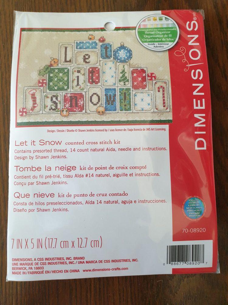 <!--9997 -->Dimensions Cross Stitch - Let it Snow