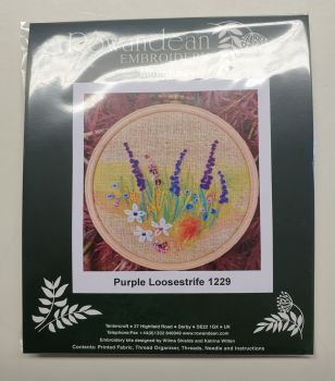 Rowandean Embroidery Kit - Purple Loosestrife 1229 (on twead with beaded detail)