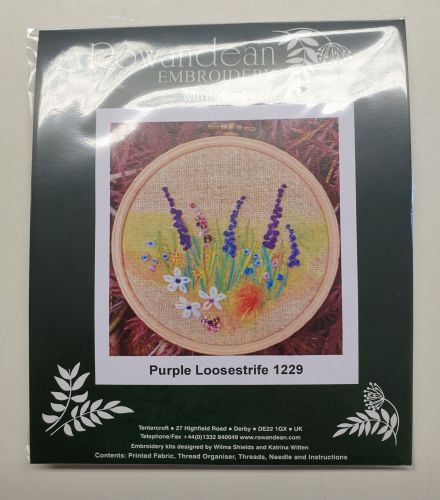 <!--9923 -->Rowandean Embroidery Kit - Purple loosestrife 1229 (on tead wi