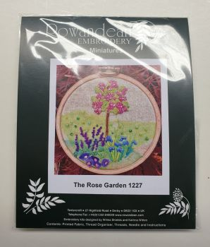 Rowandean Embroidery Kit - The Rose Garden 1227 (on twead with beaded detail)