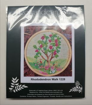 Rowandean Embroidery Kit - Rhododendron Walk 1228 (on twead with beaded detail)