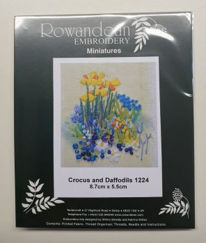 Rowandean Embroidery Kit - Crocus and Daffodils 1224 (with beaded detail)
